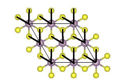 图8,单层MoS2的1T结构的基元