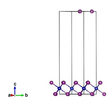 垂直于 c 方向,对应图 2 中的 b