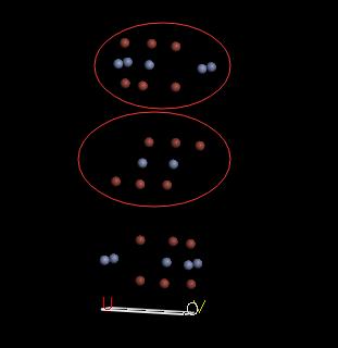 选中这些多余的原子,删除即可